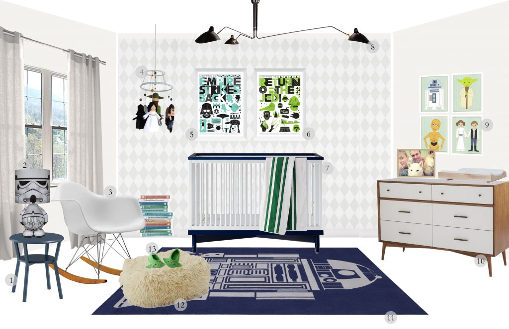 A Baby Nursery for James Knight Newman: Mid Century Modern with a Twist