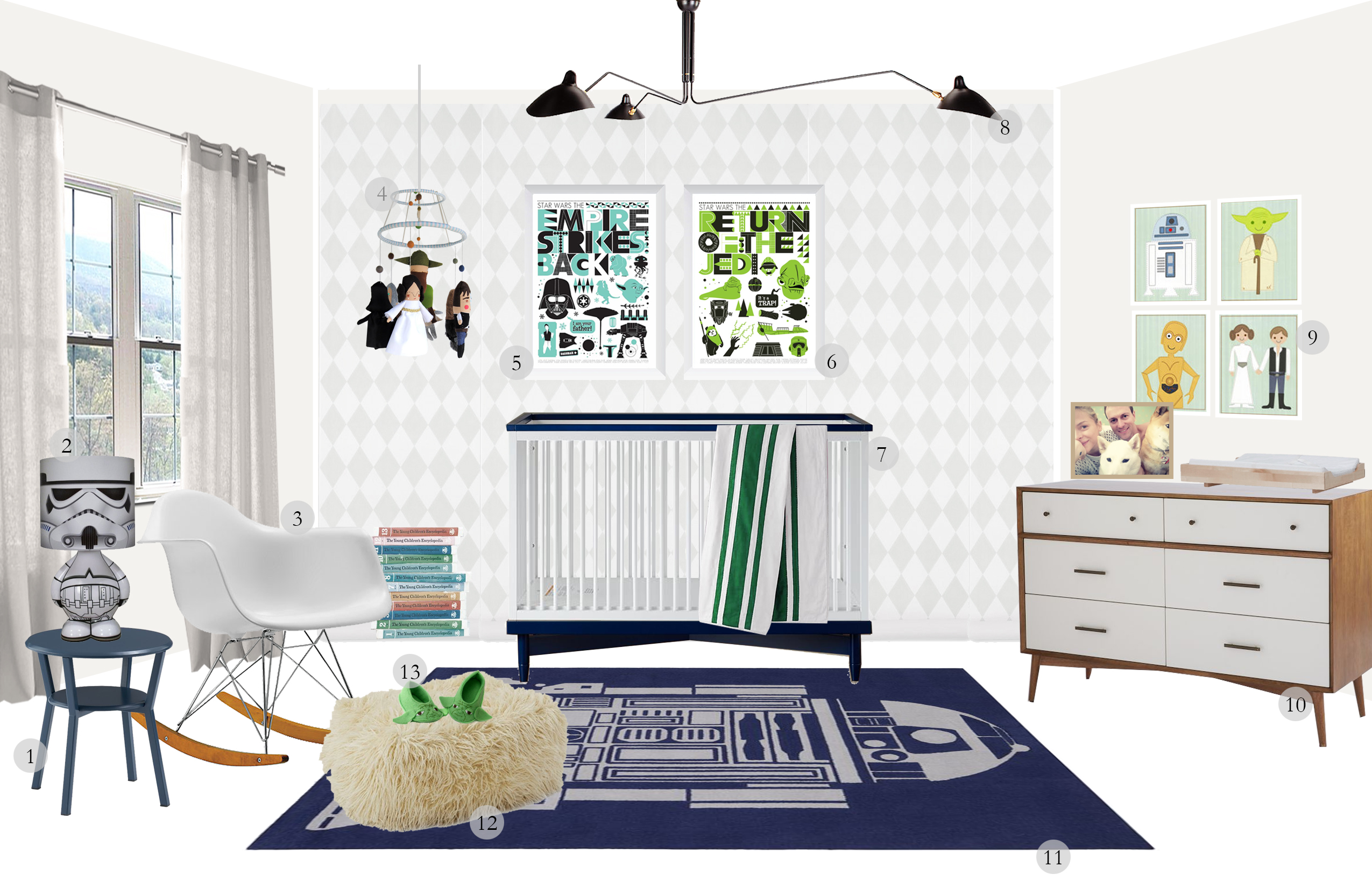 A Baby Nursery for James Knight Newman: Mid Century Modern ...