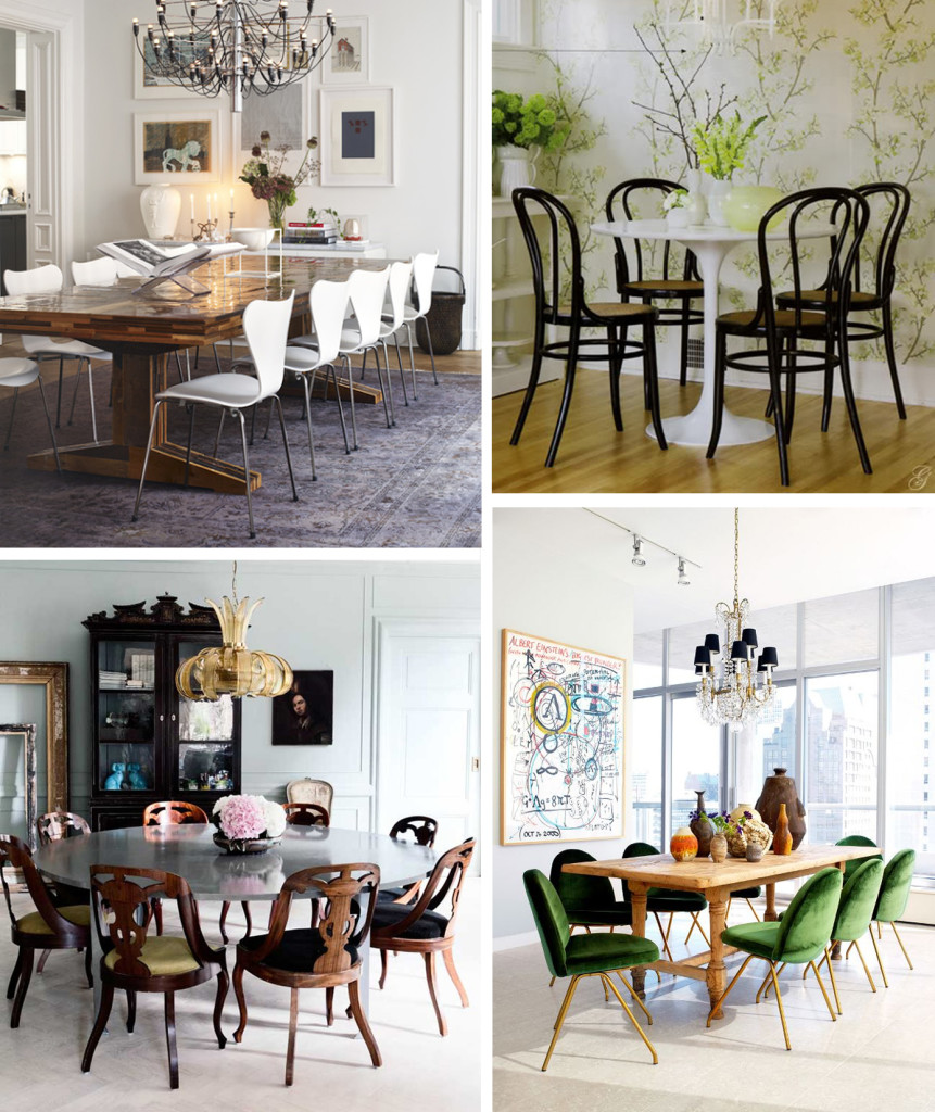 style mix dining chairs