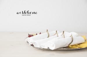 Wishbone Napkin Ring DIY via House of Earnest