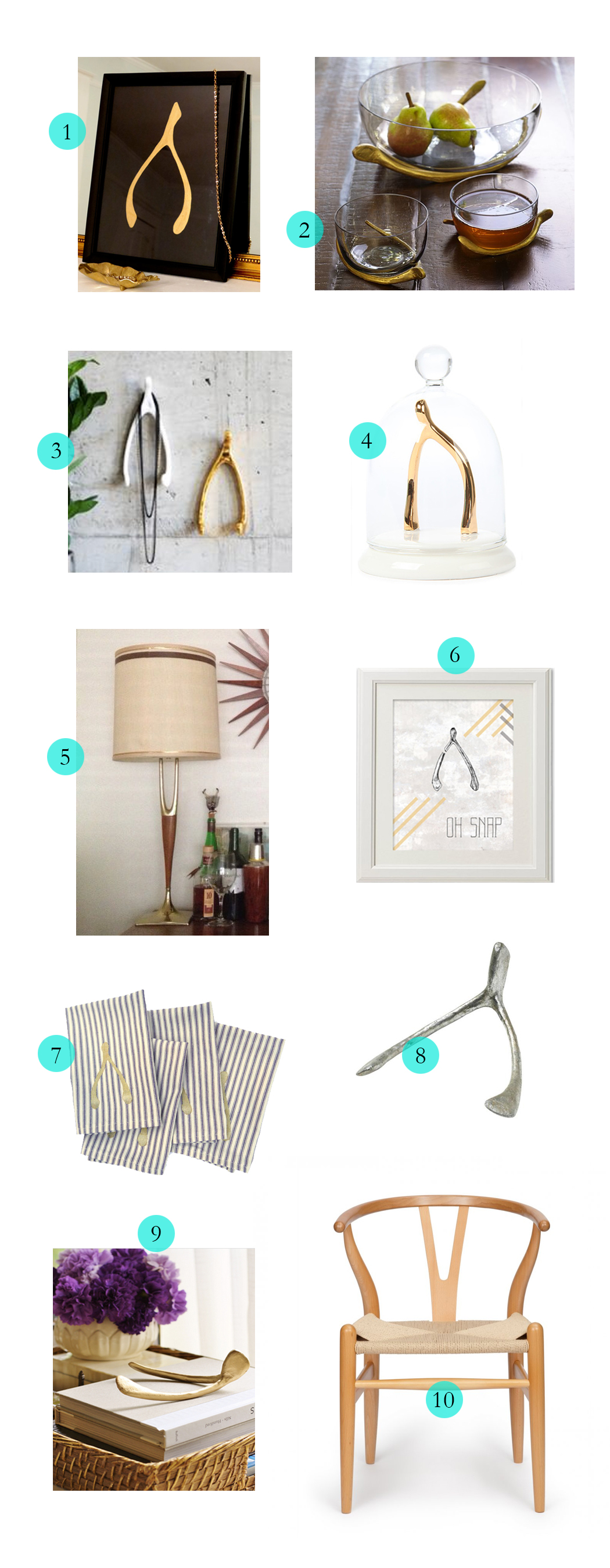 Tuesday Ten: Wishbone Decor on the Havenly Blog
