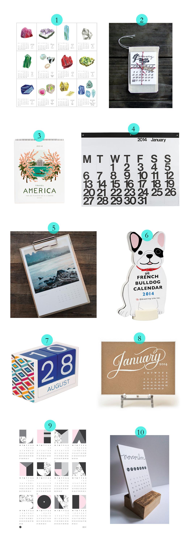 10 best calendars of 2014 via blog.havenly.com