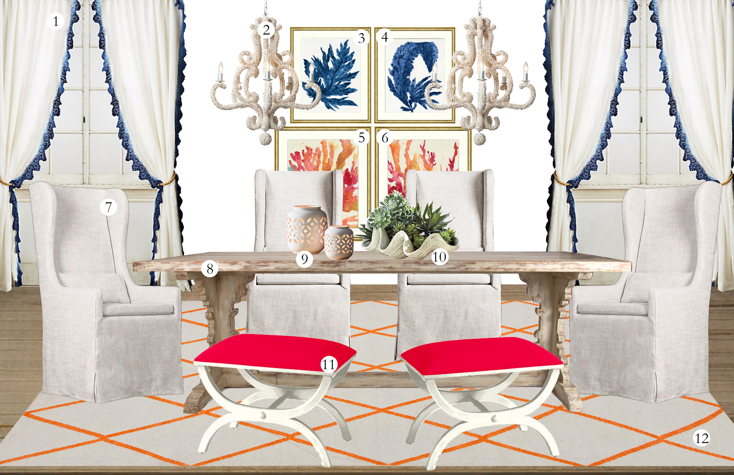 6541eeb113f Havenly Dining Room inspired by the Tory Burch Rodeo Drive Collection