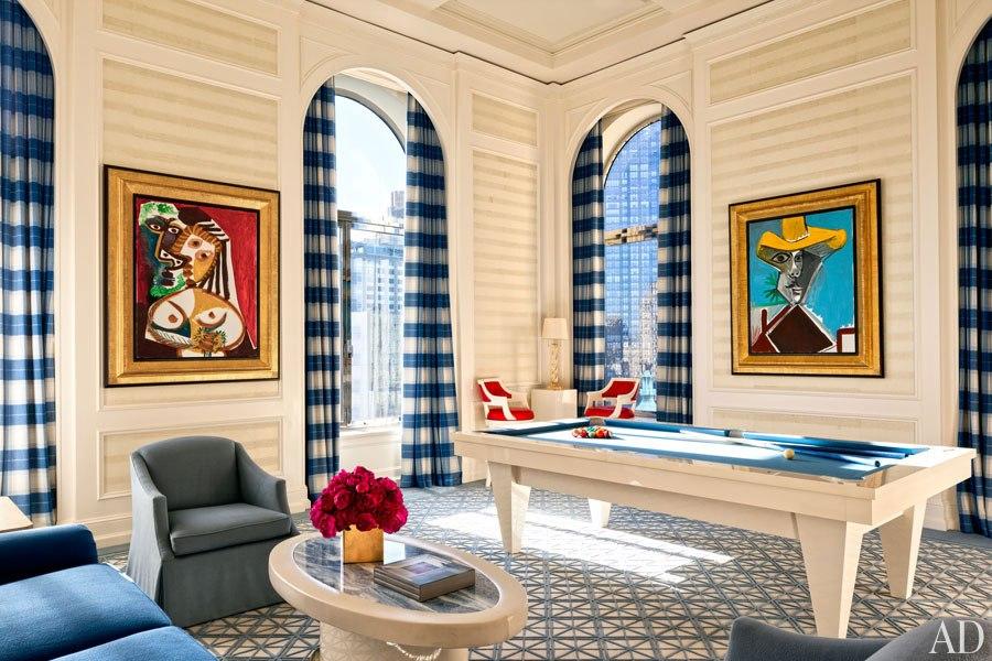 Steve Wynn Billiard Room via Havenly