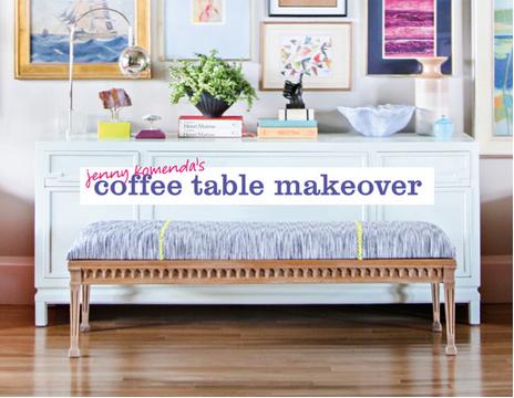 Jenny Komenda Coffee Table DIY via Domino ||  Havenly