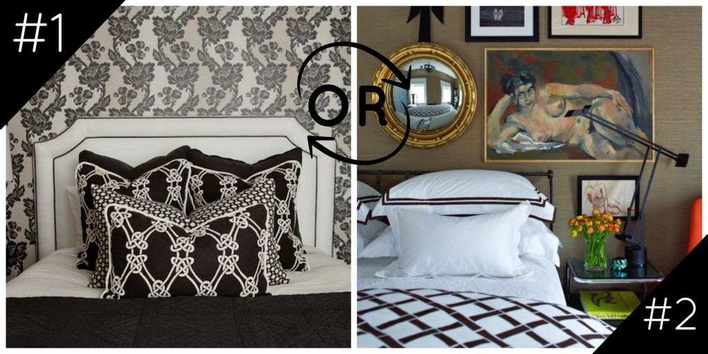Would You Rather: Caitlin Wilson vs. Patrick Mele Black & White Bedrooms
