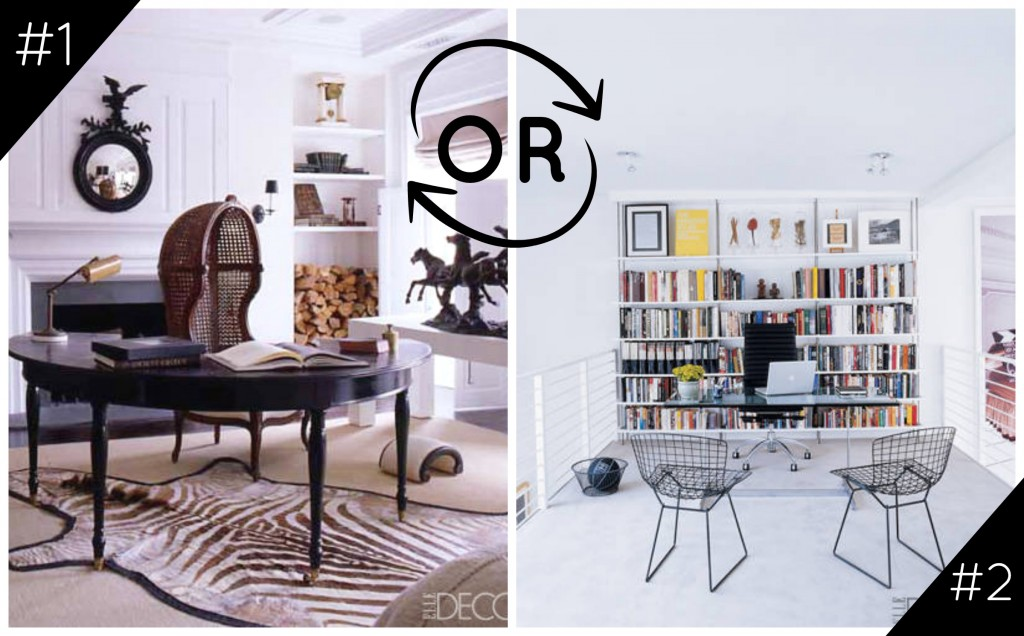 Would You Rather: Darryl Carter vs. Will Kopelman Office Spaces {featured in Elle Decor}