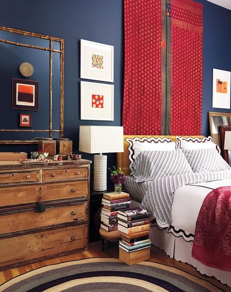 Elaine Griffin Red White U0026 Blue Bedroom || Havenly
