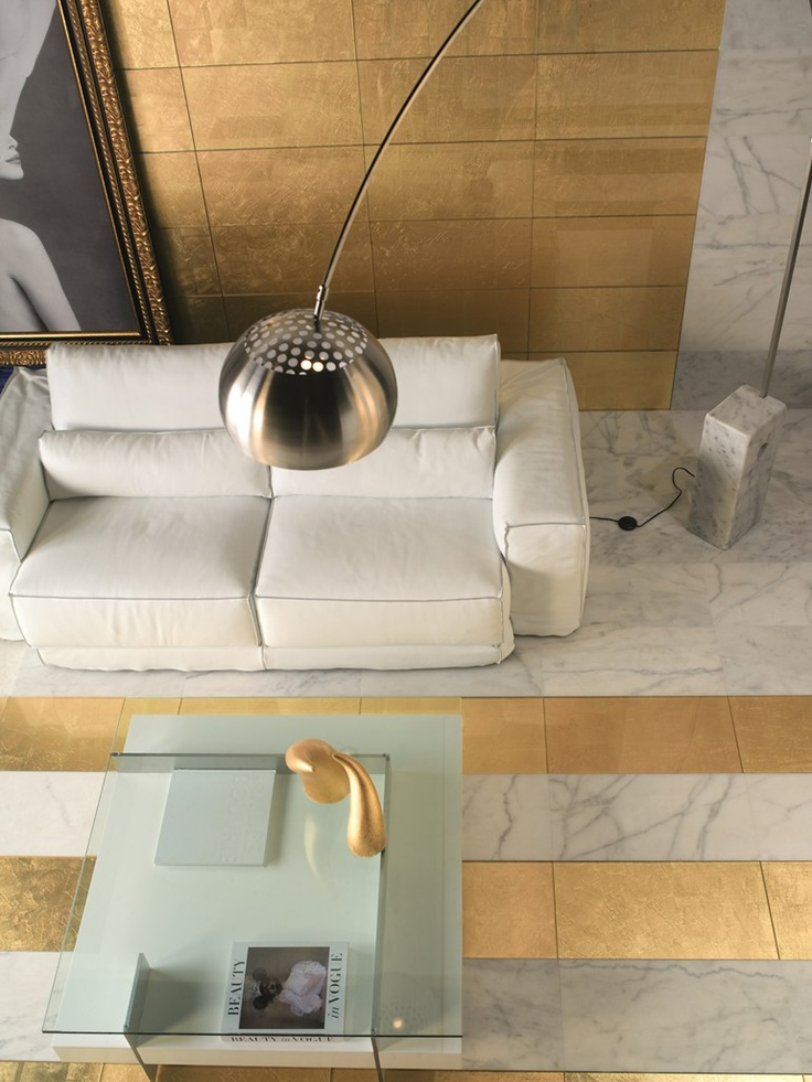 Marble & Gold Leaf Floor ||  Havenly