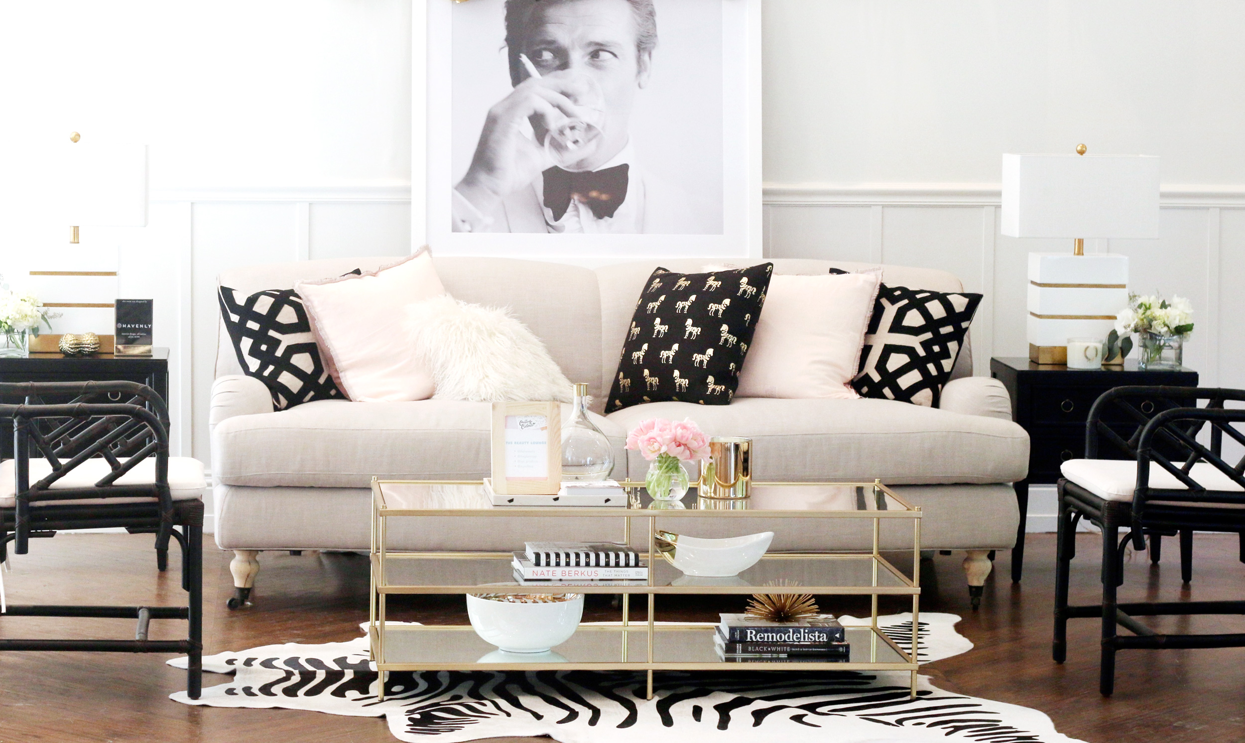 Our favorite pink havenly designs living room