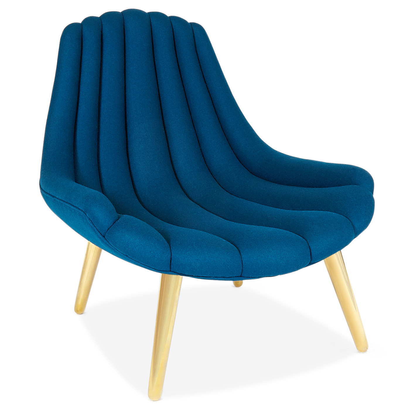 Brigitte Navy Lounge Chair   This Or That? || Havenly