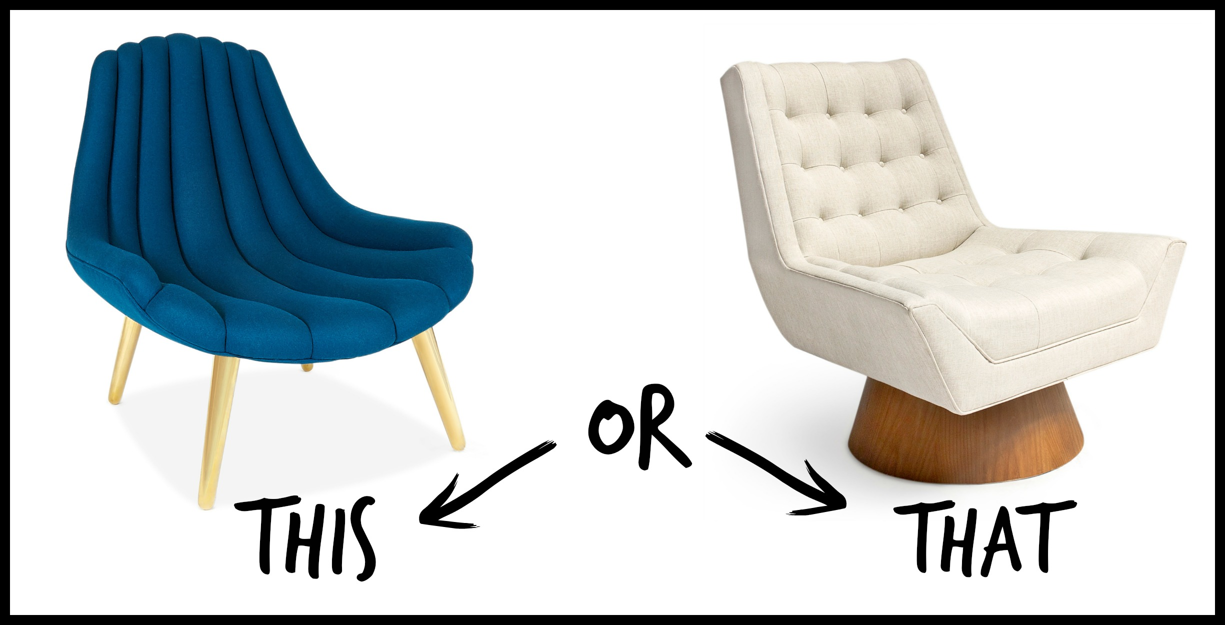This Or That   Jonathan Adler Accent Chairs || Havenly