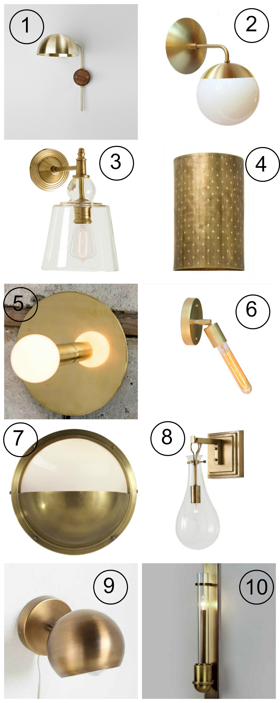 Best Brass Wall Sconces : The Ten Best Brass Wall Sconces Havenly