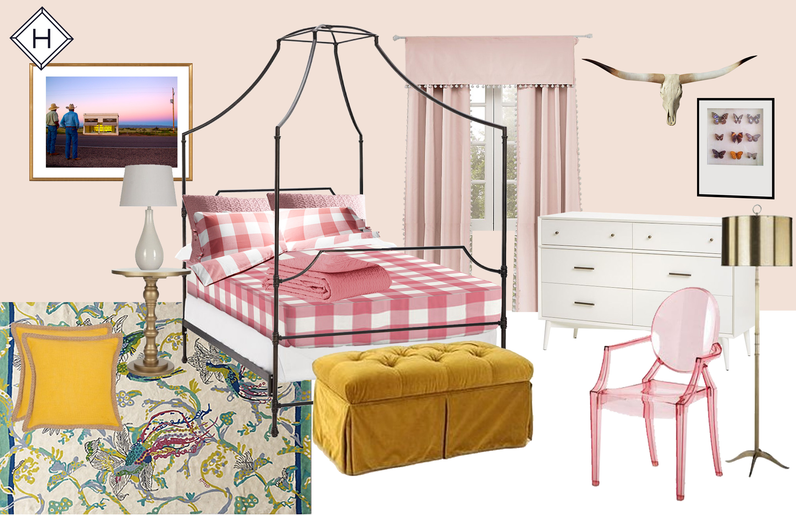A Whimsical Girls Bedroom Design by Havenly
