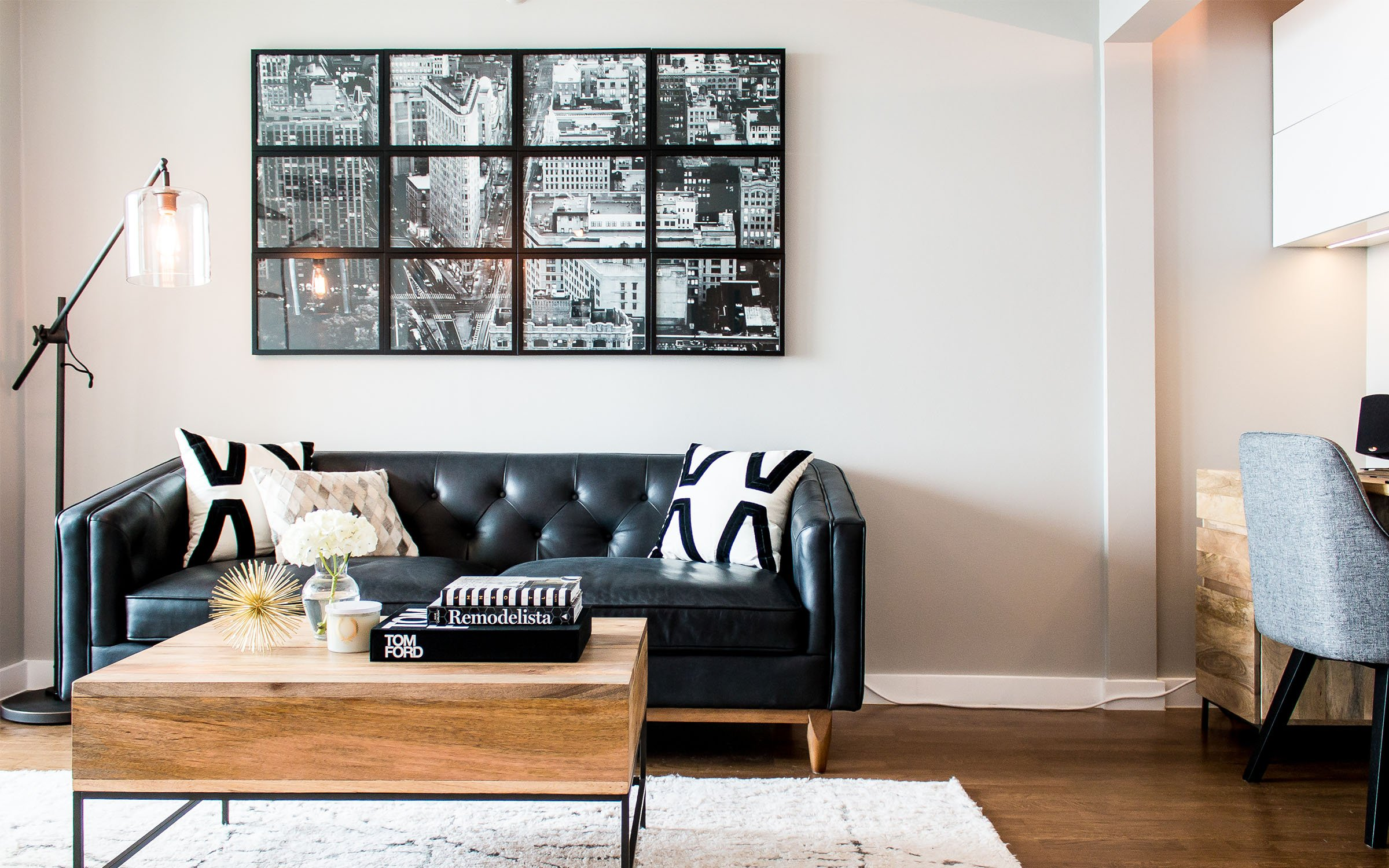 Client Feature: A Contemporary Home Office in Chicago | Havenly Hideaway