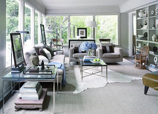 How To Layer Rugs: with an angle