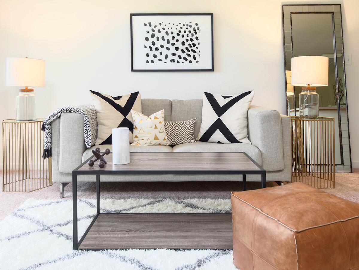 Budget makeover a complete living room update for under for Complete living room decor