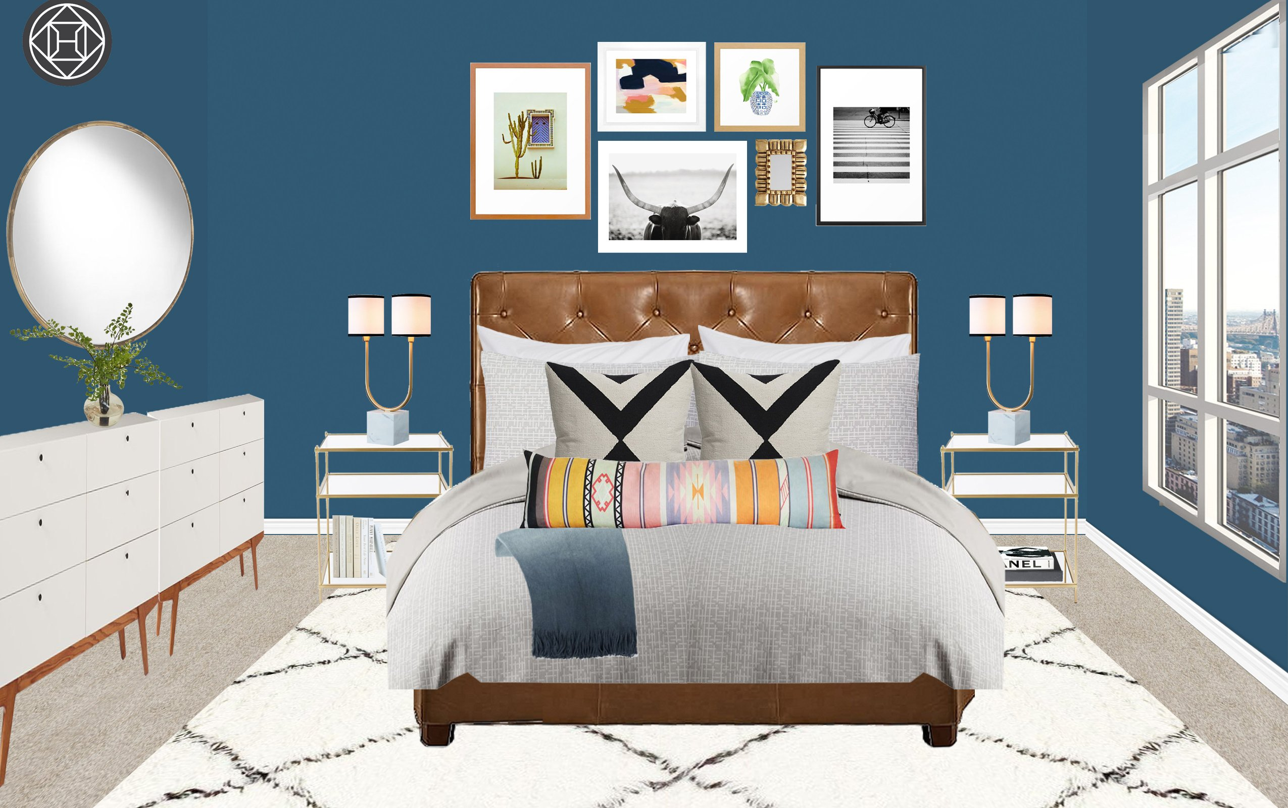 Room Recipe A Modern Amp Eclectic Bedroom The Havenly Blog