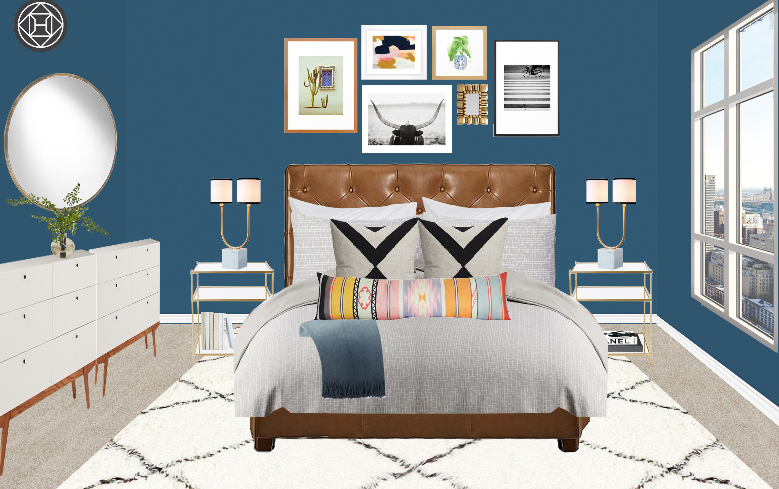 Room Recipe: A Modern U0026 Eclectic Bedroom Design