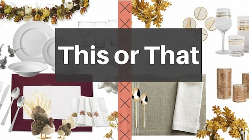 Thanksgiving is around the corner! Make sure your turkey has the setting it deserves with a Classic or Contemporary Thanksgiving tablescape.