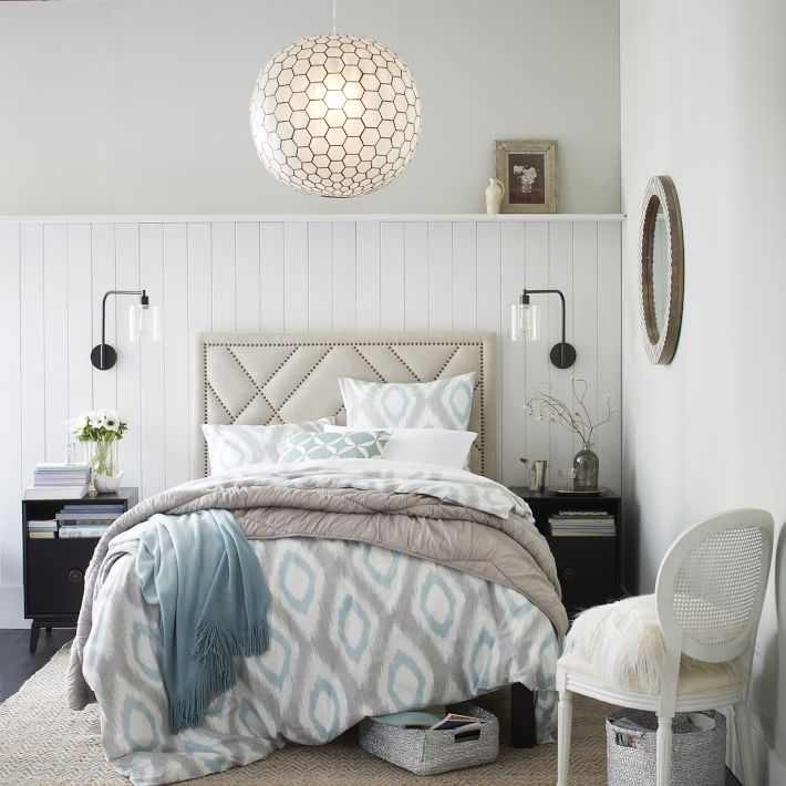 Add instant WOW to your bedroom with this decorative nailhead bed. See more of Havenly's favorite studded pieces.