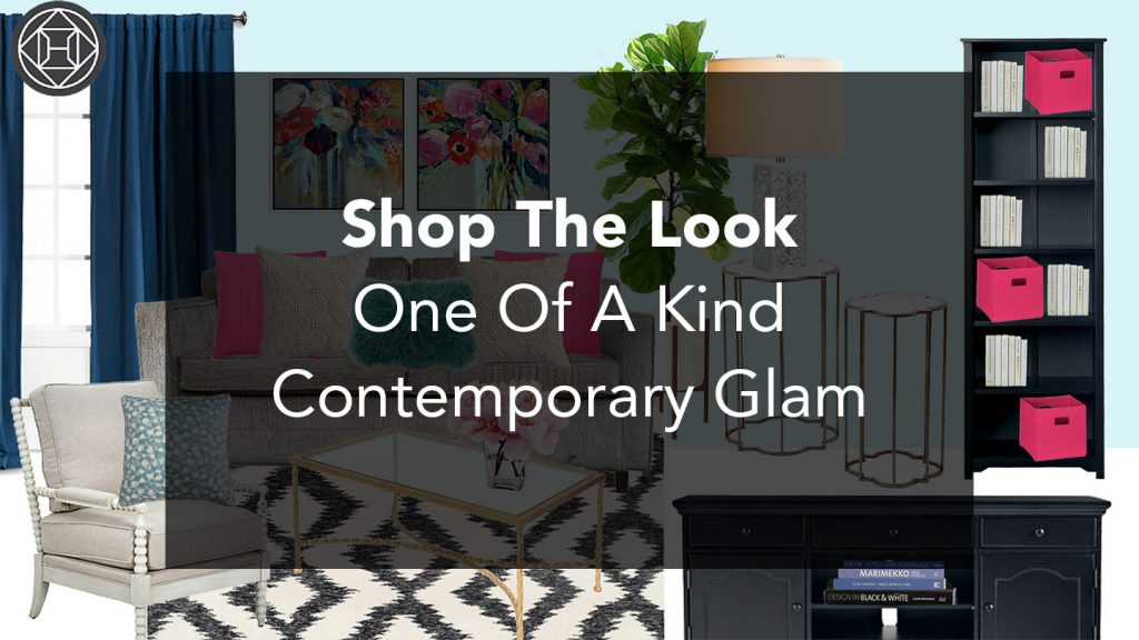 Shop The Look: An Eclectic Contemporary Glam Space