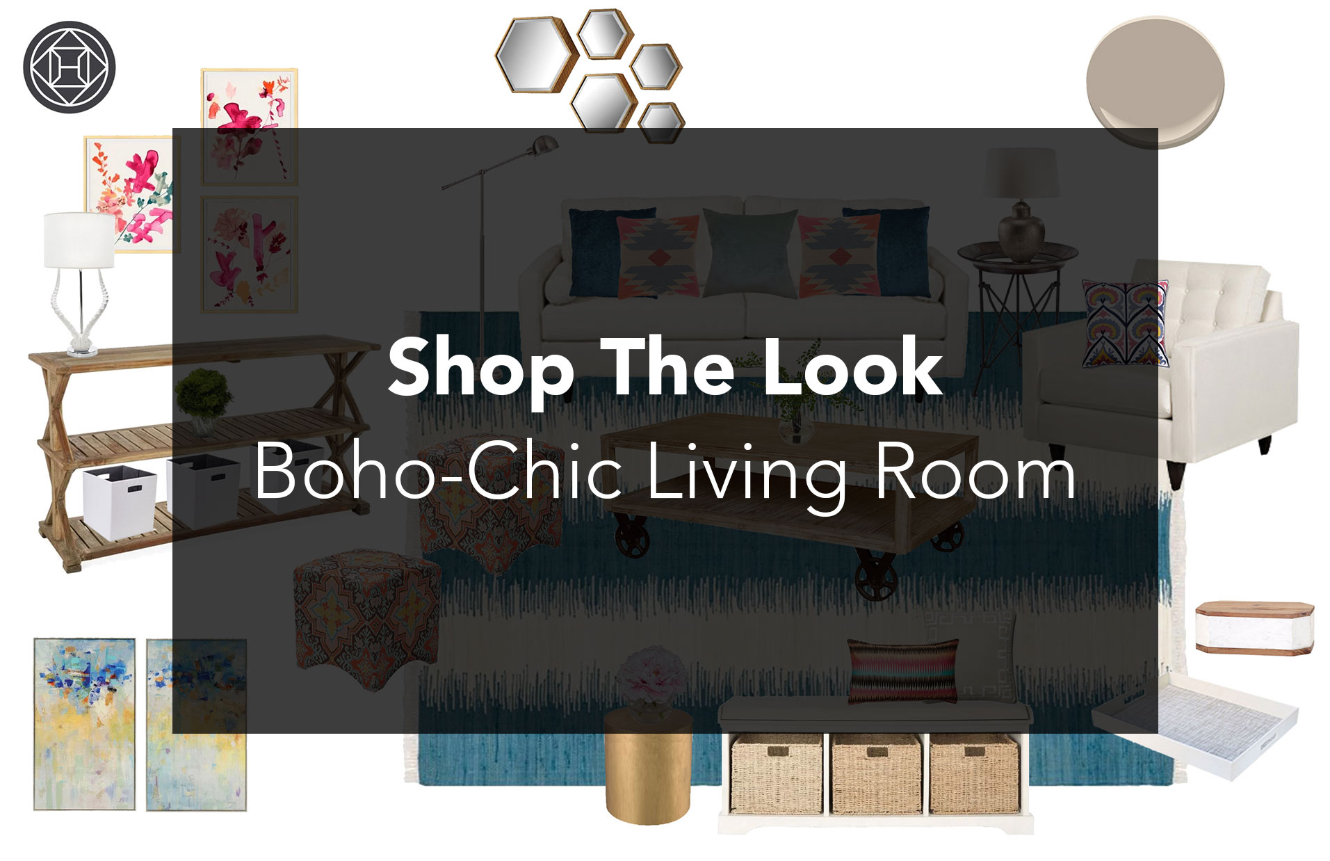Shop The Look A Boho Chic Living Room