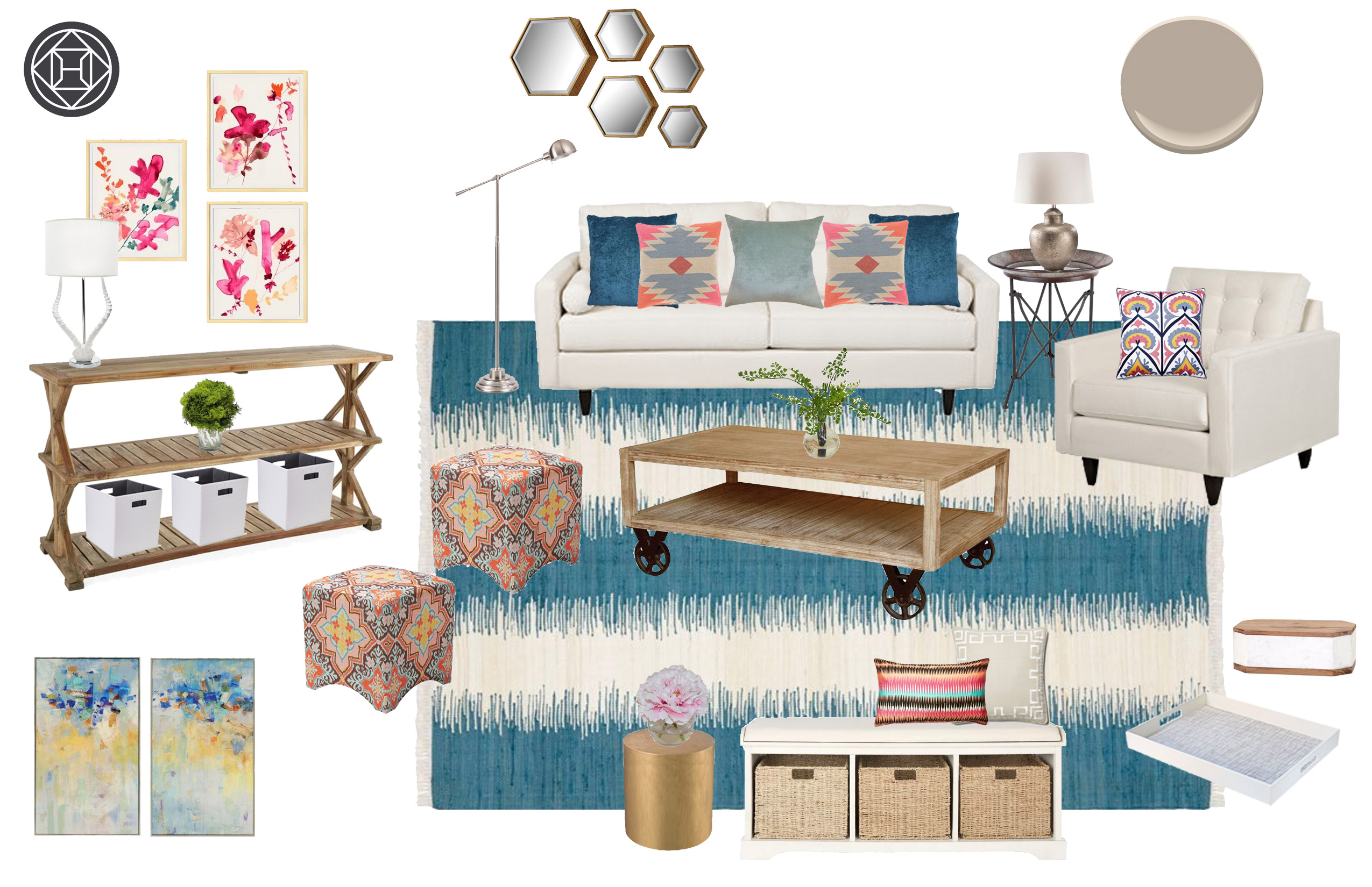 shop the look a boho chic living room the havenly blog