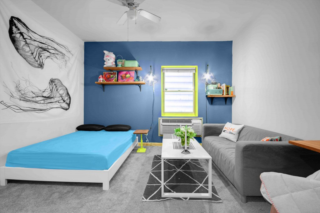A studio apartment layout by Havenly