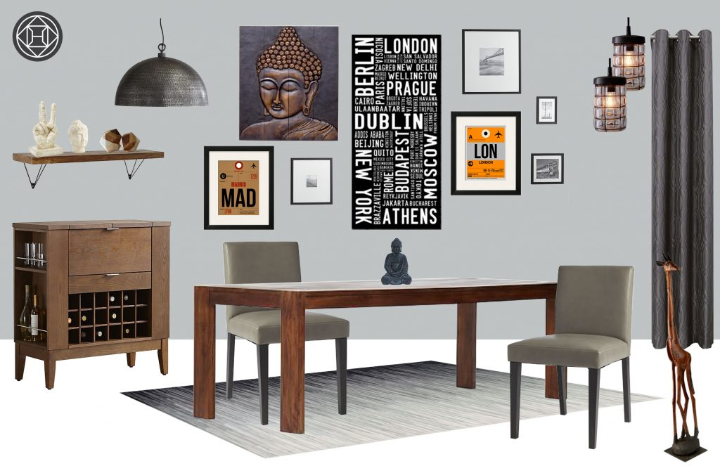Shop The Look: An Eclectic Global Dining Room