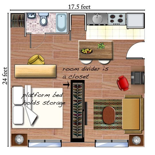 Studio Apartment Layout Plans studio apartment layout magic | havenly