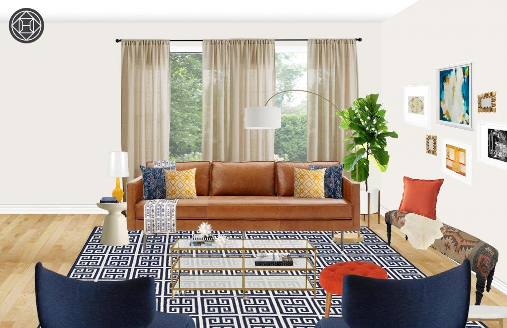 Shop The Look: A Comfortably Eclectic Living Room