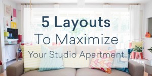 5 Studio Apartment Layouts That Will Maximize Your Space