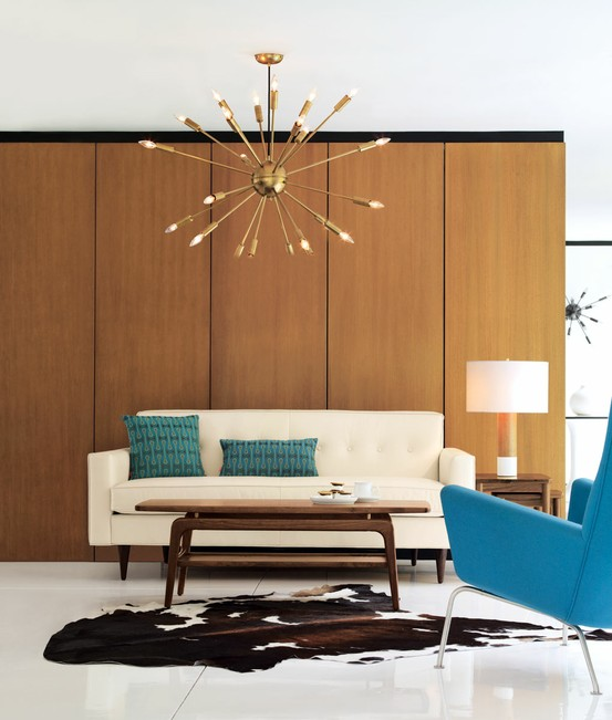 mid mod with a touch of yas - Mid Century Living Rooms