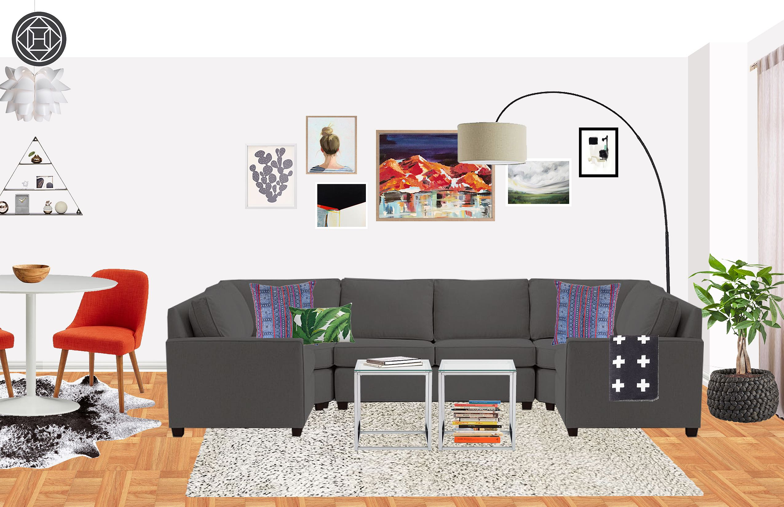 Mid Century Modern Living Room Shop The Look A Colorful Mid Century Modern Living Room The