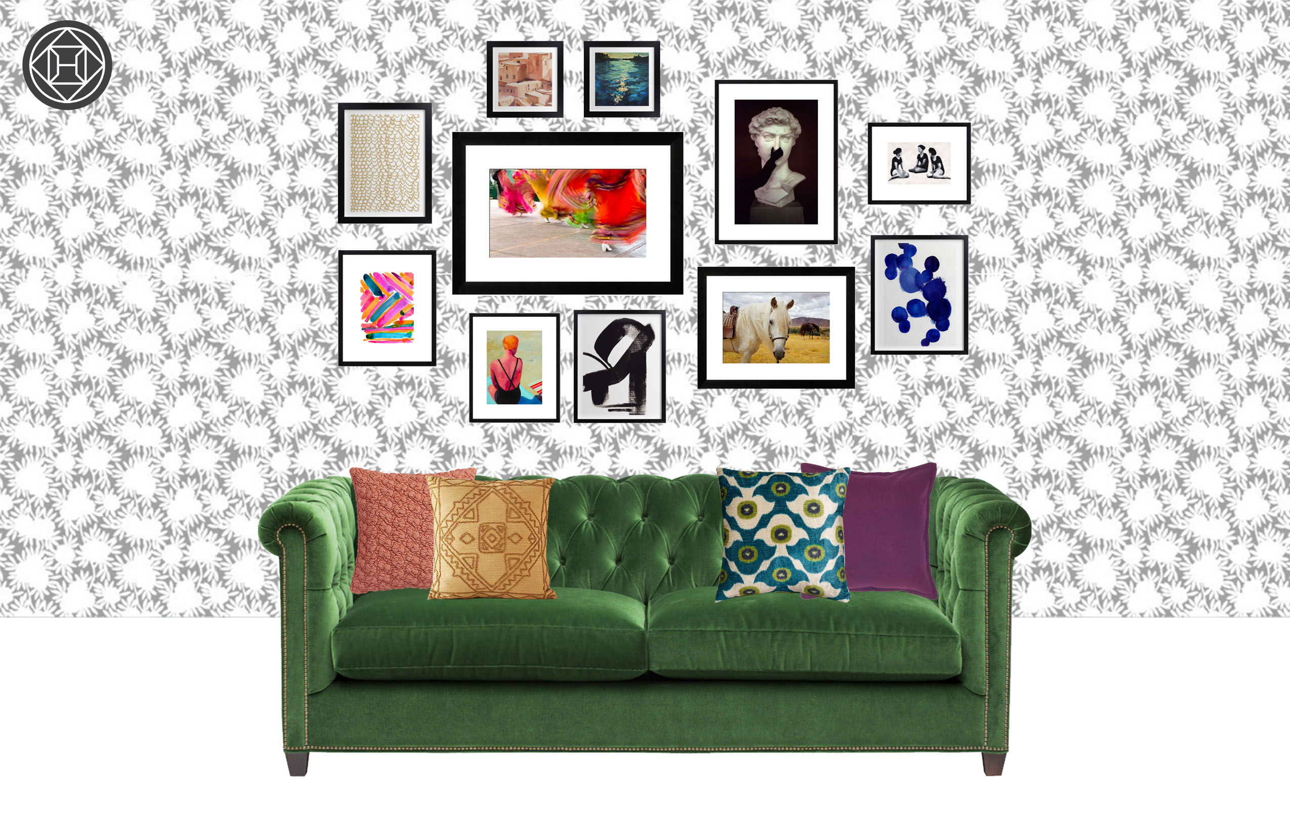 4 looks to inspire art hanging ideas