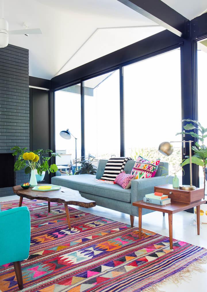 mid century modern livingroom