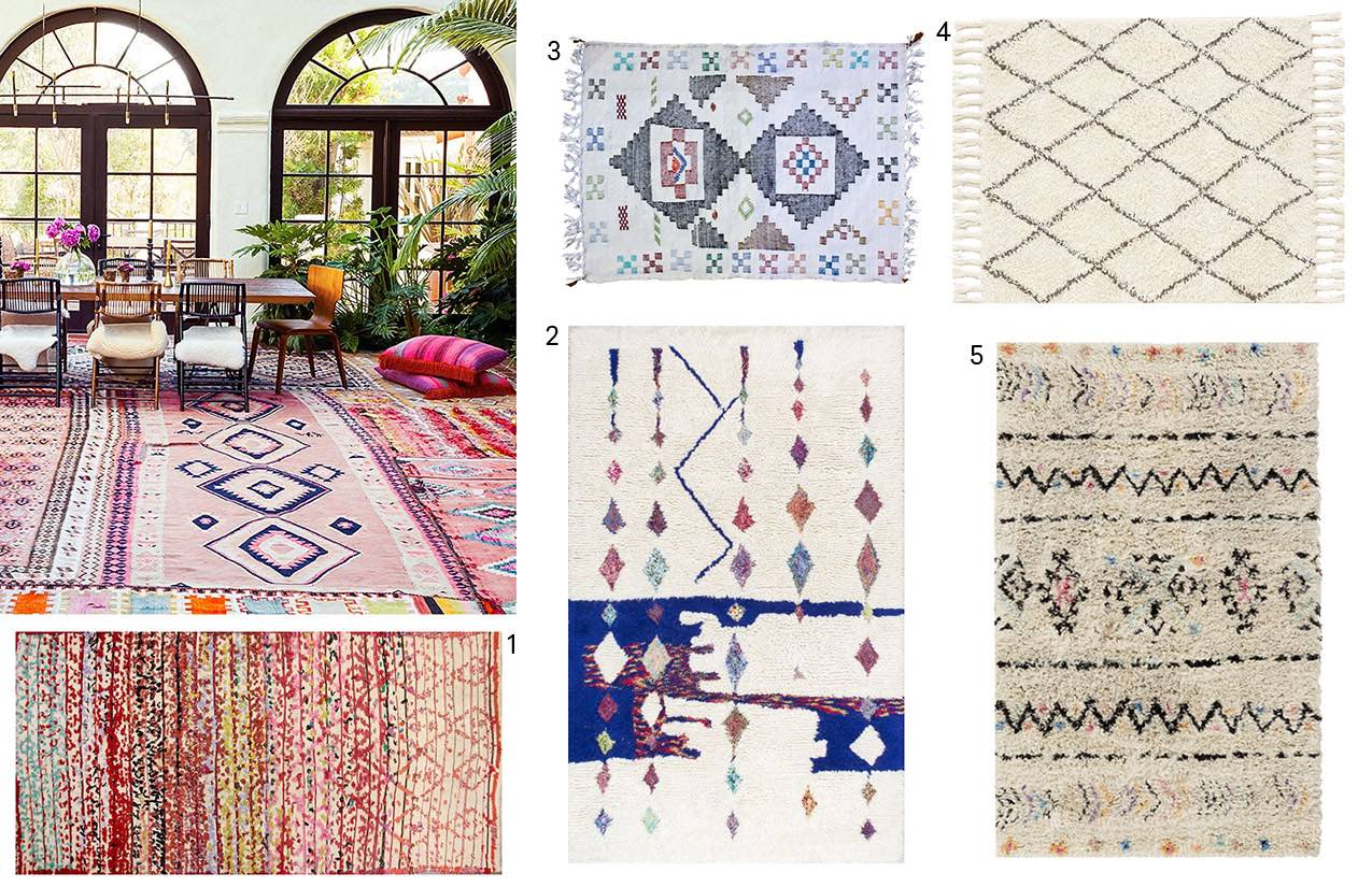 Layering Rugs Numbered