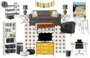 A Havenly design concept for blogger Katherine T.