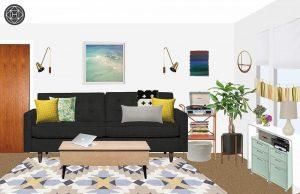 Katherine's room rendering.