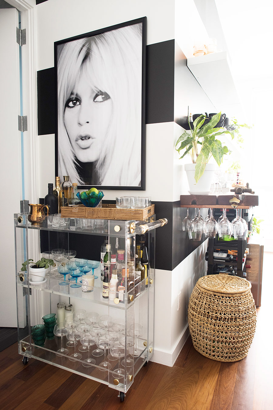 Decked-out bar cart style