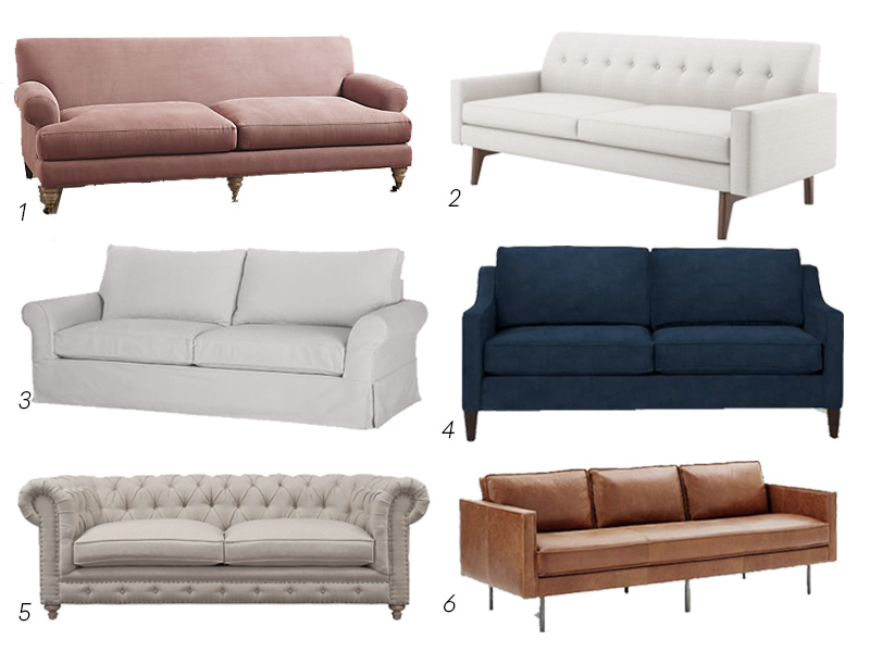 Sofas Styles the designer's guide to shopping for sofas | the havenly blog