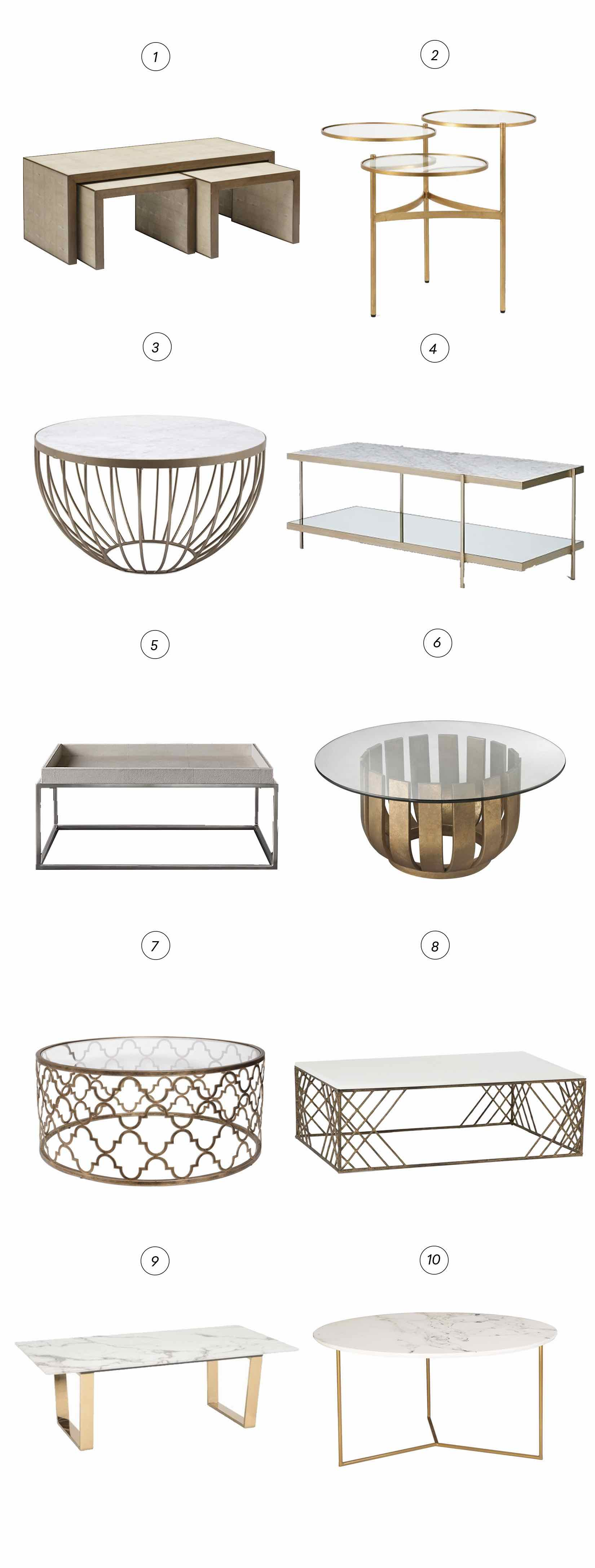 10 Glam Coffee Tables We Love Havenly S Blog
