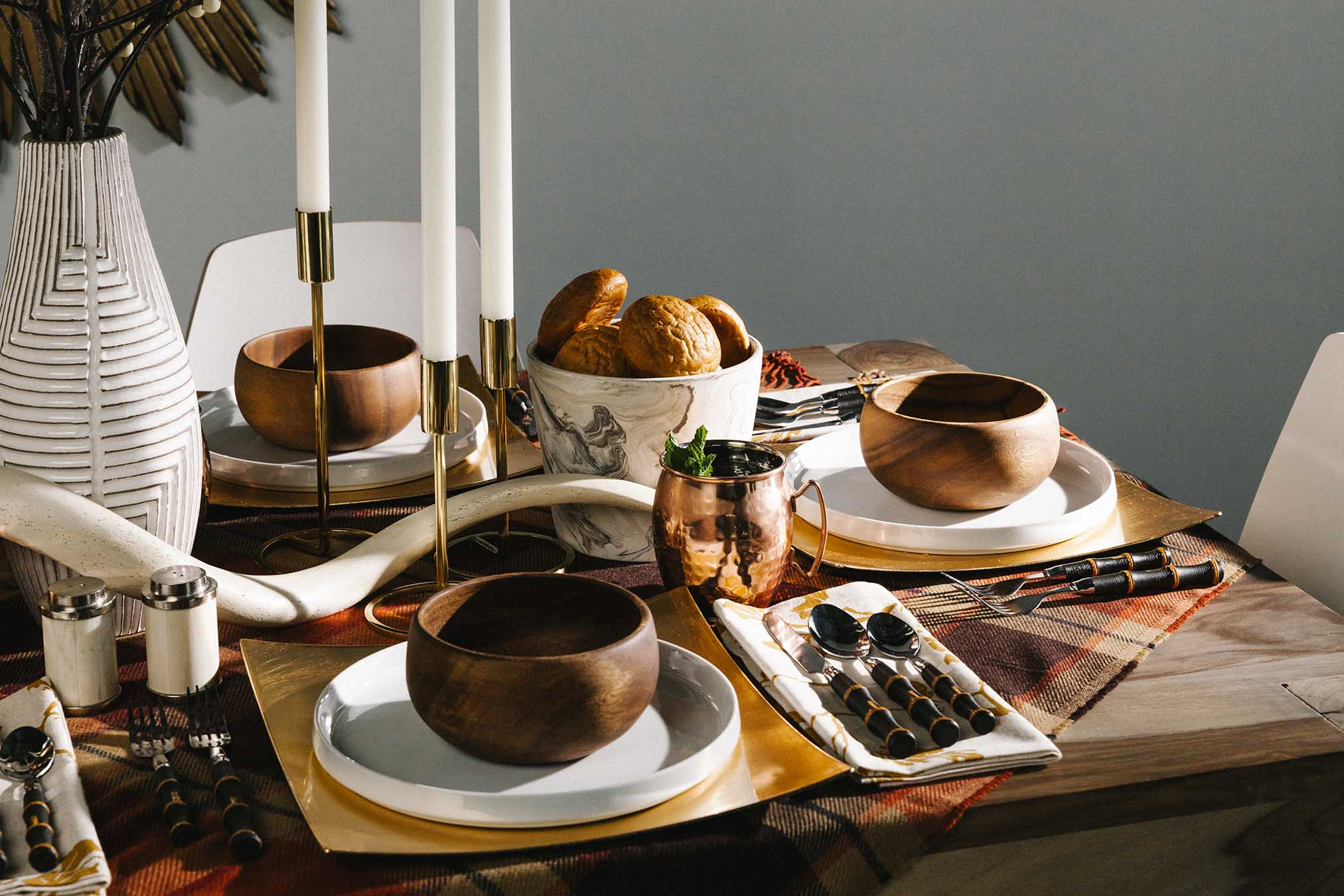 Fall Tablescape Tip: Consider the feelings you want to evoke