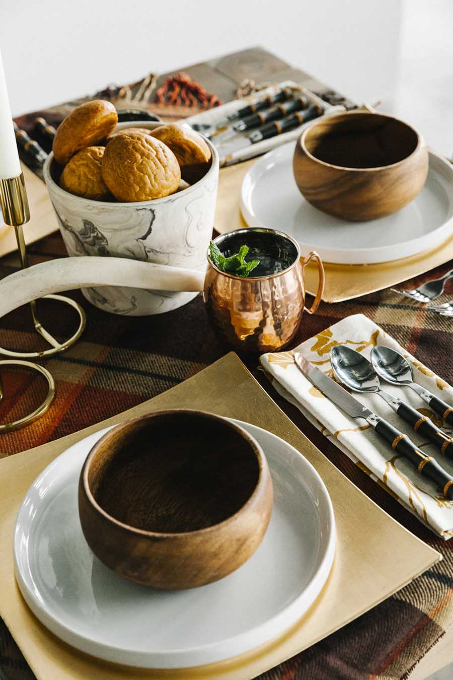Fall Tablescape Tip: Add something unexpected