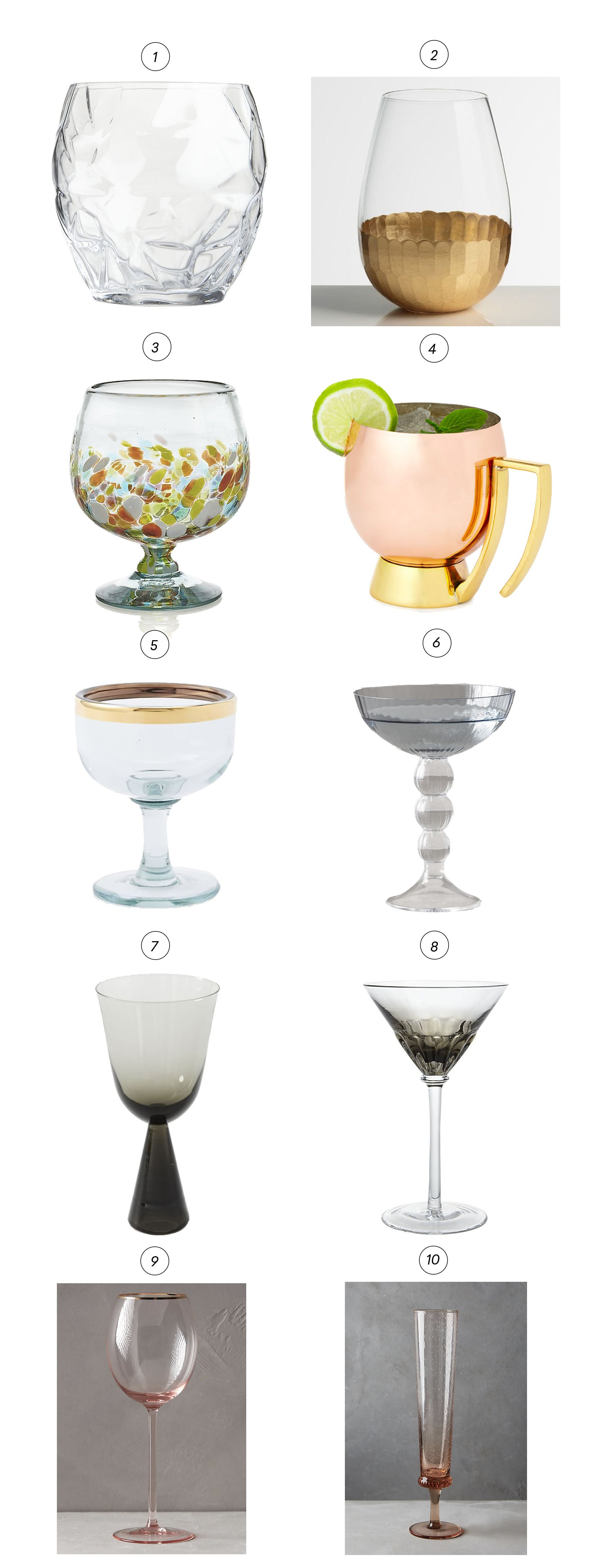 Unique cocktail drinkware to sip, savor and repeat