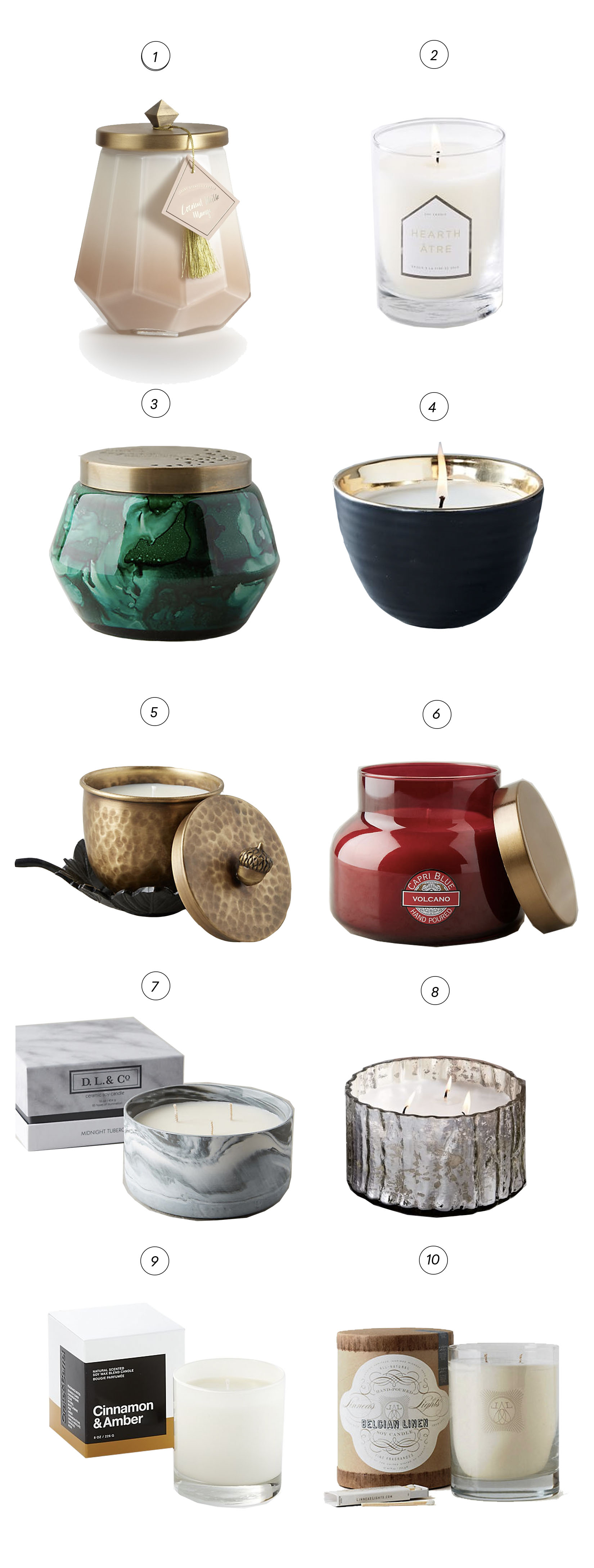 Our favorite decorative candles for every home