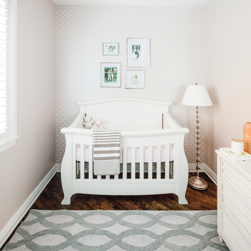 Grey and white home nursery