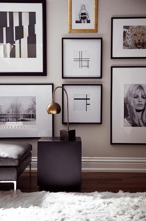 Black And White Home Inspiration Art