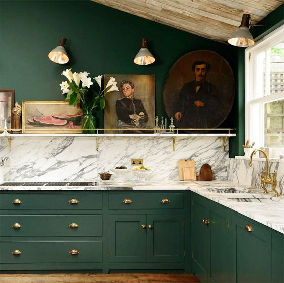 Havenly's 2017 Color Of The Year Kitchen Cabinets